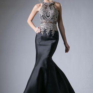 Halter Neckline Long Prom Dress CD8934
